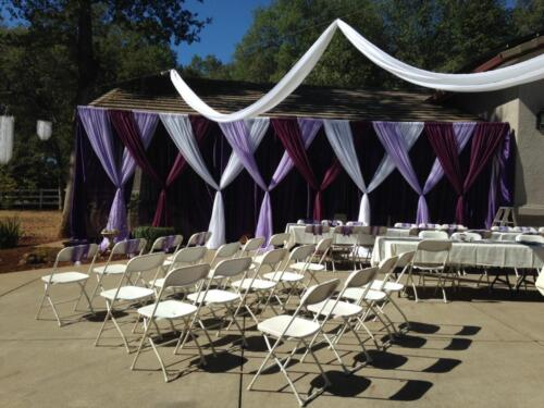 Backyard Purple  White Cermony Drape