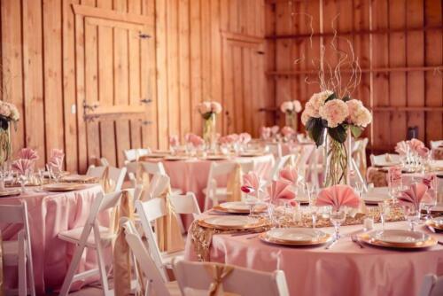 Blush  Gold tables