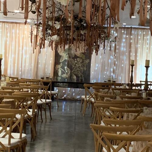 Garage wedding ceremony