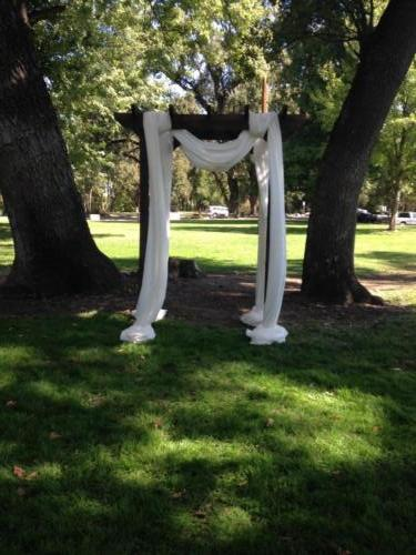 Park wedding arch