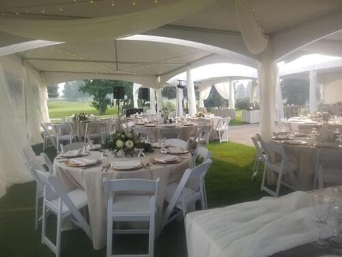 champagne and ivory tent